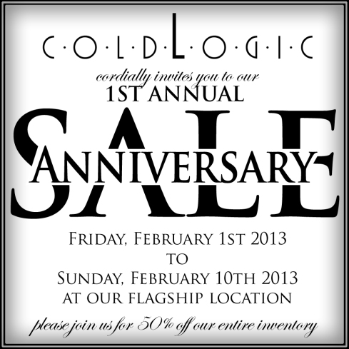 coldLogic Anniversary Sale
