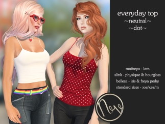 Neve Top - Everyday - Neutral + Dot